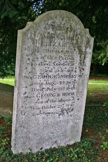 Elizabeth and Thomas Matthews, also George Robert Wood, Sophia and George Wood