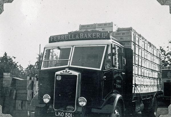 Ferrell and Baker Heavy Lorries loaded