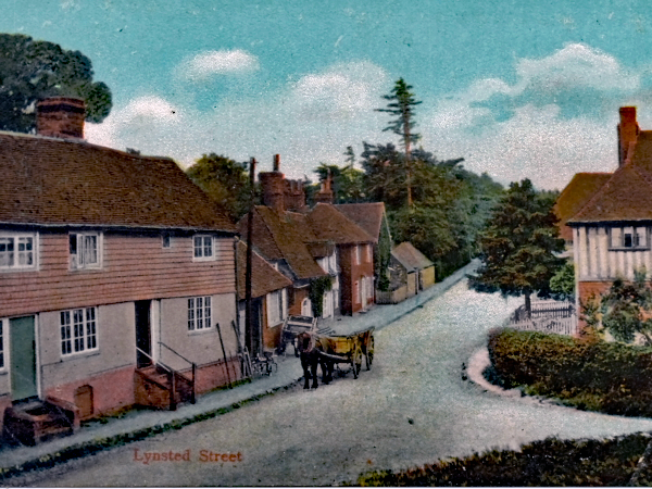 the_forge_lynsted_1905_hand_coloured