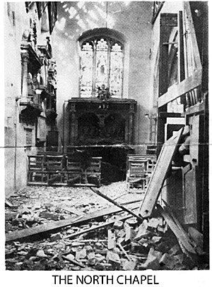 The North Chapel bomb damage