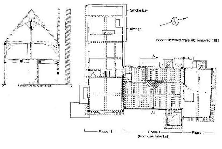 Lynsted Court cross section and plan