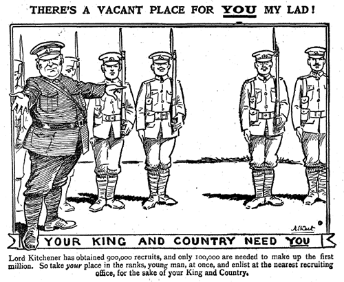Recruitment cartoon for Kitchener