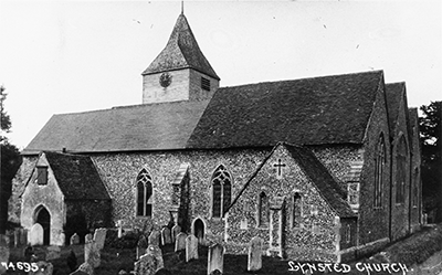 Lynsted Church black and white photograph