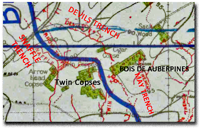 "Operation ""Lemon"" in Devil's Trench and Bois des Aubepines"