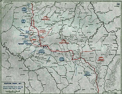 The Western Front arrangements of fighting strength 1916 to 1917