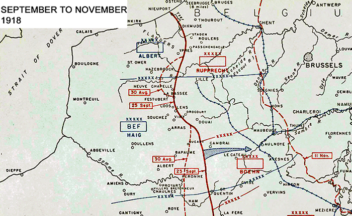 Map showing the Final Allied Offensive