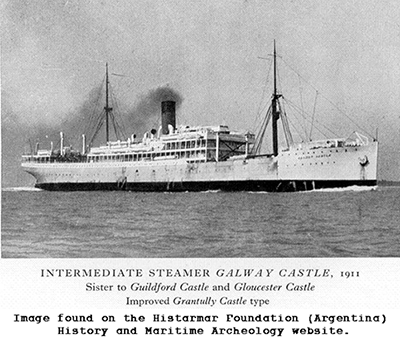 Intermediate Steamer Glaway Castle in 1911