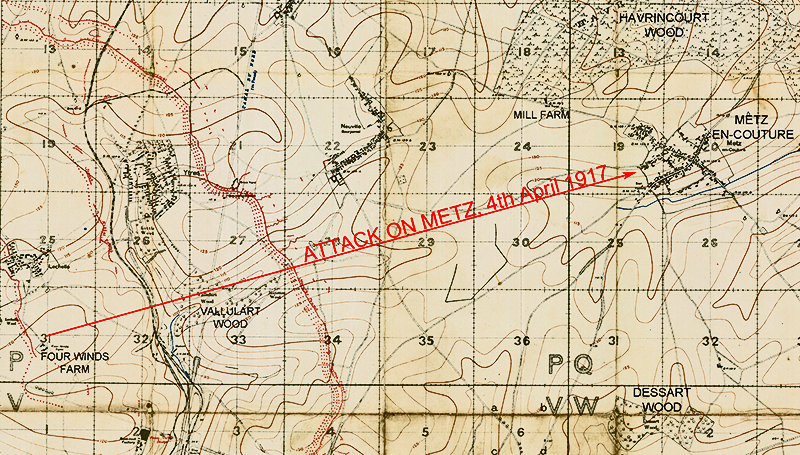 Map the Attack on Metz April 1917