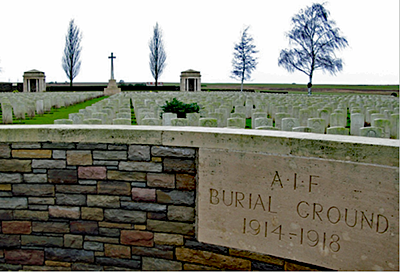 AIF Burial Ground, Flers, Somme - entrance