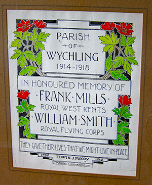 Remembrance in Wychling Church