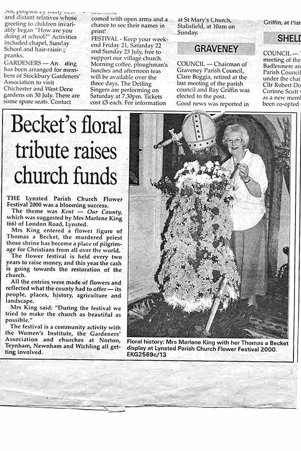 Kent Our County - Newspaper account of Fund Raising